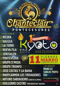 KYOTO FM ANIVERSARIO CARTEL